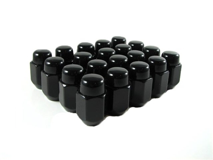 Acorn Lug Nuts 12x1.25 Thread Black