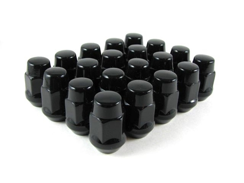 Long Bulge Acorn Lug Nut 14x1.5 Black 1.75""