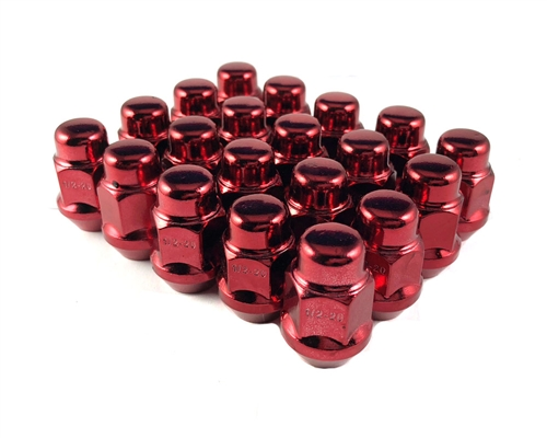 Bulge Acorn Lug Nut 12x1.5 Red