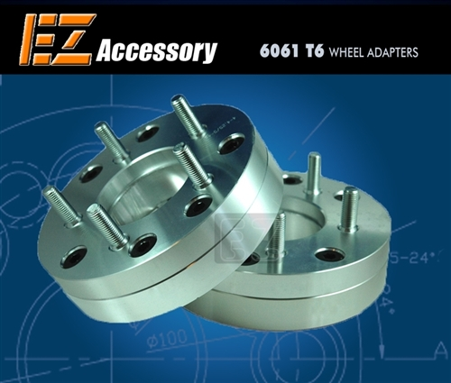 "Wheel Adapter 6 Lug 5.5"" To 5 Lug 4.5"" Thickness 2"" (Pair)"