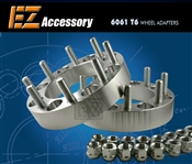 "Wheel Adapter 8 Lug 6.5"" To 8 Lug 210 (Pair) 14x1.5 Stud"