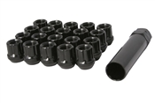 "Open End Spline Drive Tuner Lug Nuts 1/2"" Black"
