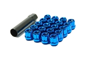 Open End Spline Drive Tuner Lug Nuts 12x1.25 Blue