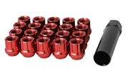 Open End Spline Drive Tuner Lug Nuts 12x1.25 Red