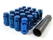 "Spline Drive Tuner Lug Nuts 7/16"" Blue"
