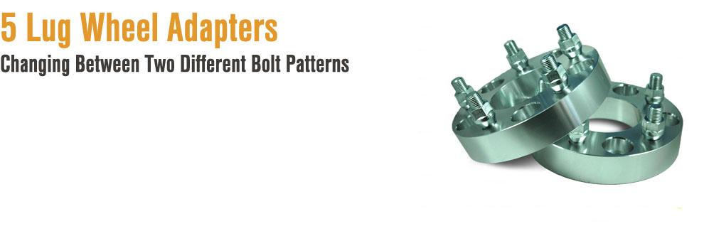 5 on 5 Bolt Pattern Wheels Bolt Pattern Adapters For 5