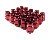 "Bulge Acorn Lug Nut 7/16"" Red"