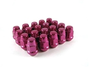 Bulge Acorn Lug Nut 12x1.25 Red