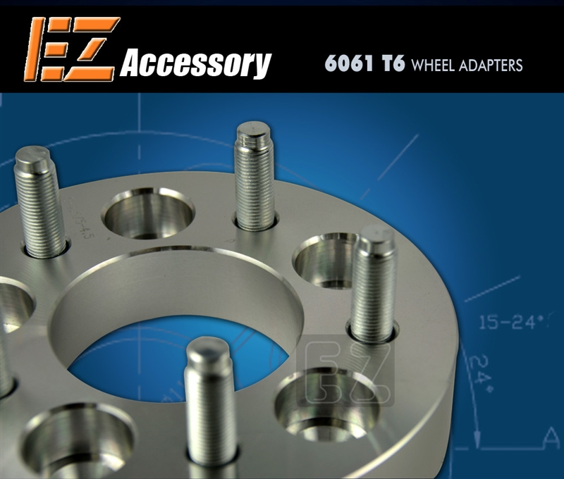 "2 Wheel Adapters 4 Lug 4.25 To 4 Lug 4.25 Spacers 1/"""