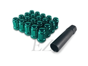 Spline Drive Tuner Lug Nuts 12x1.50 Green