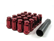 "Spline Drive Tuner Lug Nuts 7/16"" Red"